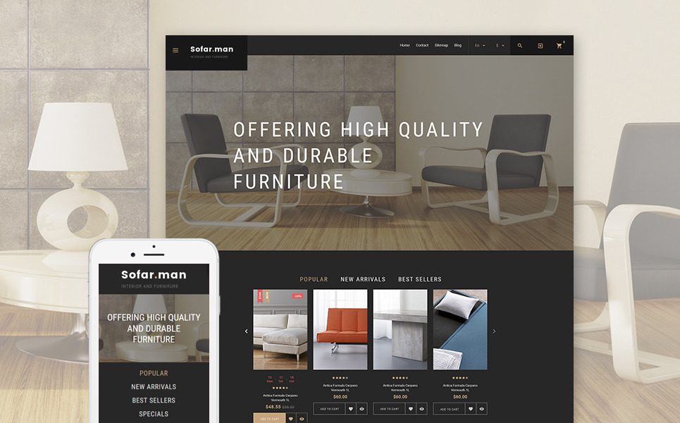Sofarman - Interior Design PrestaShop Theme New Screenshots BIG