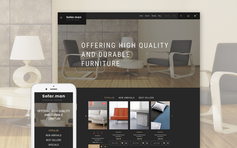 Sofarman - Interior Design PrestaShop Theme New Screenshots BIG