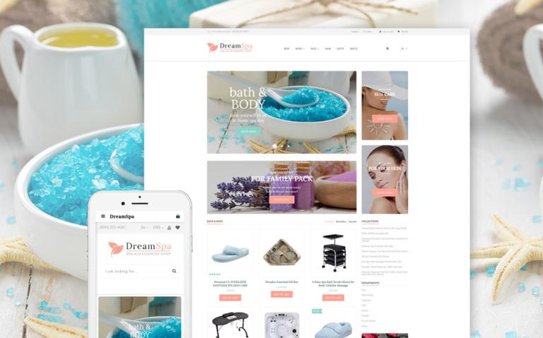 Spa Accessories Responsive OpenCart Template New Screenshots BIG