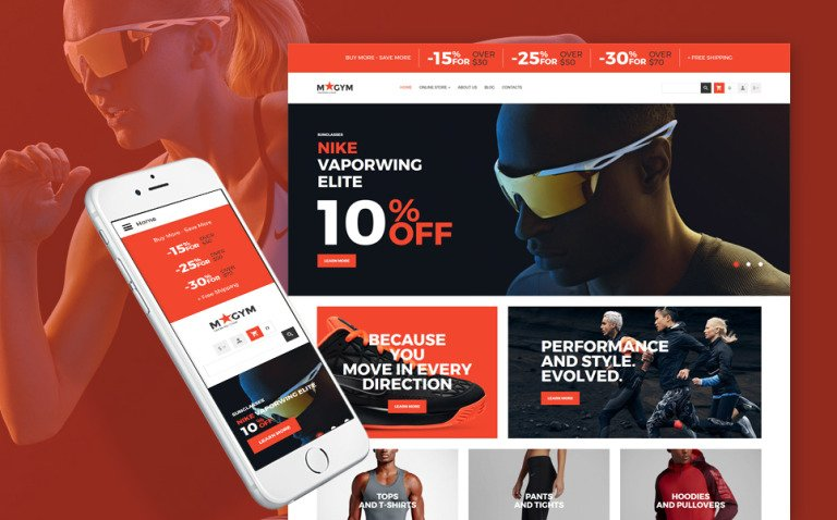 Sports Store Responsive VirtueMart Template New Screenshots BIG