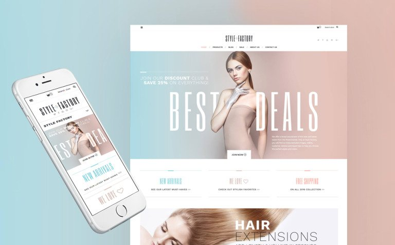 Style Factory - Hair Care & Hair Styling Responsive Shopify Theme New Screenshots BIG