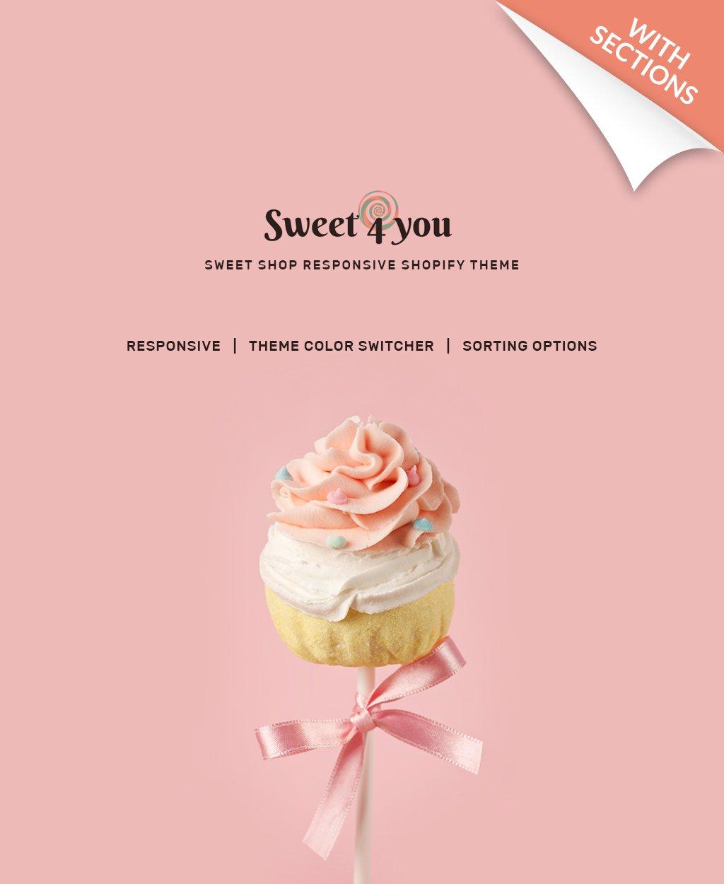 Sweet Shop Responsive Shopify Theme - screenshot