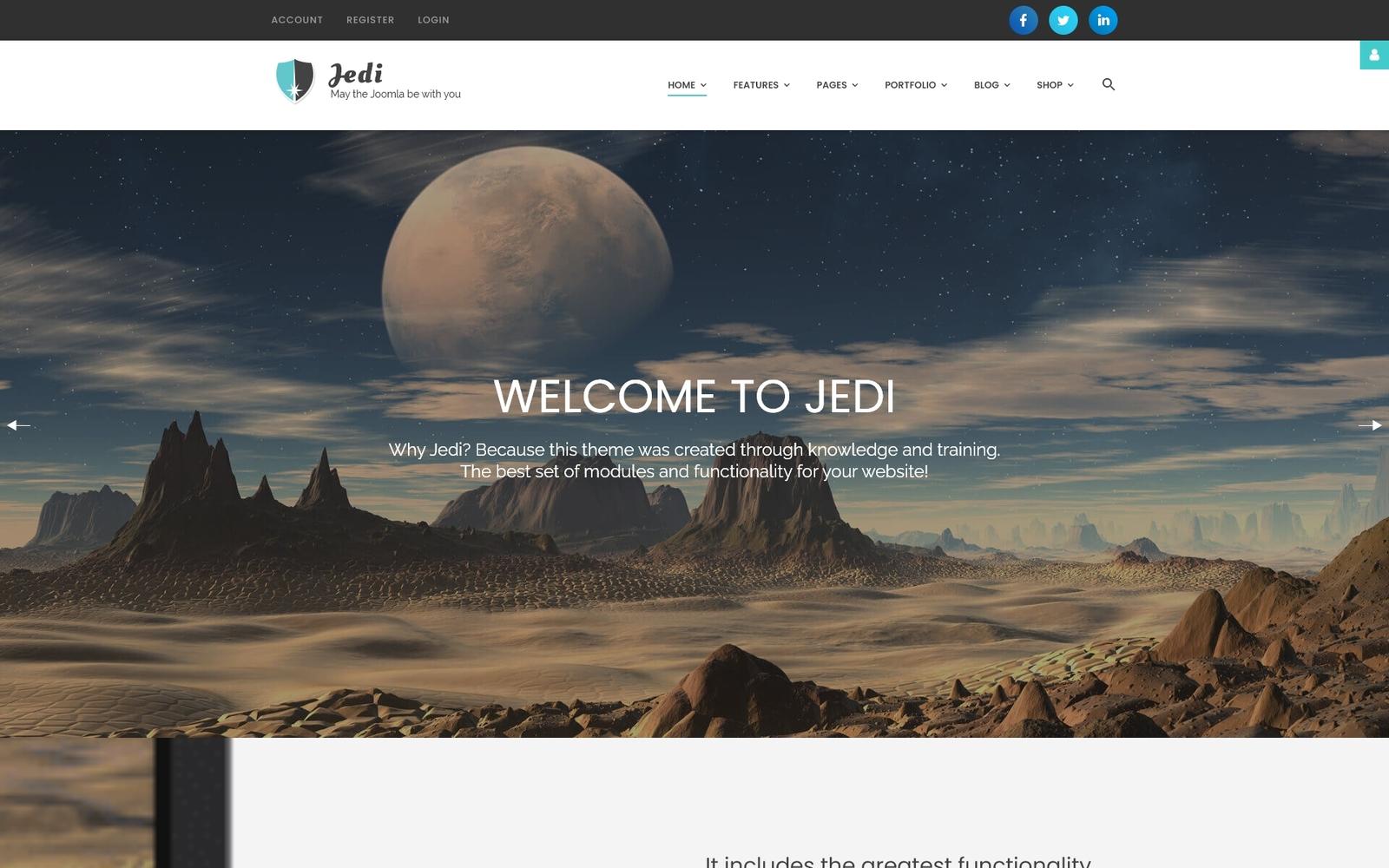 """Tema Joomla Responsive #62226 """"Jedi - Creative Multipurpose"""""""