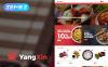 """Tema Magento #62289 """"YangXin - Chinese Restaurant"""" New Screenshots BIG"""