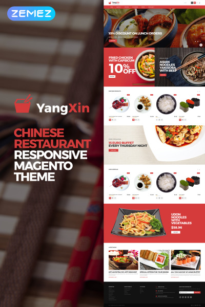 Tema Magento #62289 para Sitio de  para Sitio de Restaurantes japonéses