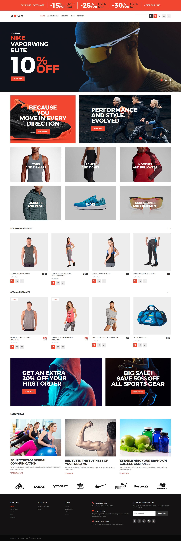 Template VirtueMart para Sites de Loja de Esporte №62298