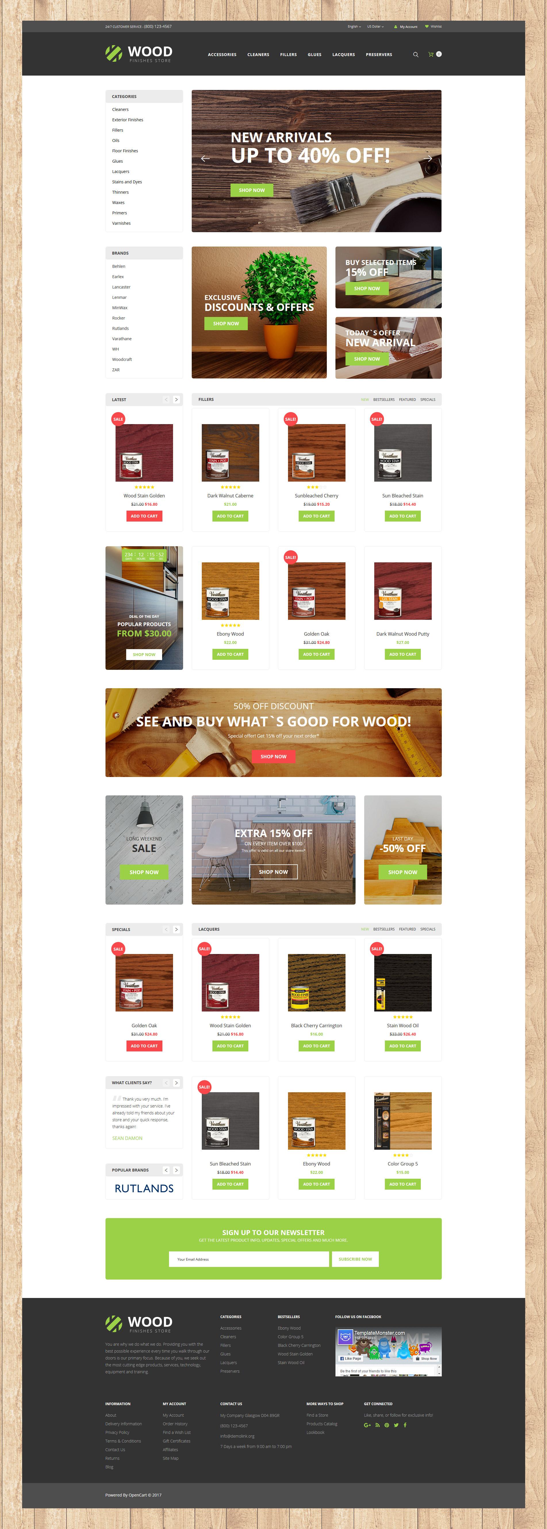 Wood Finishes Responsive №62201 - скриншот