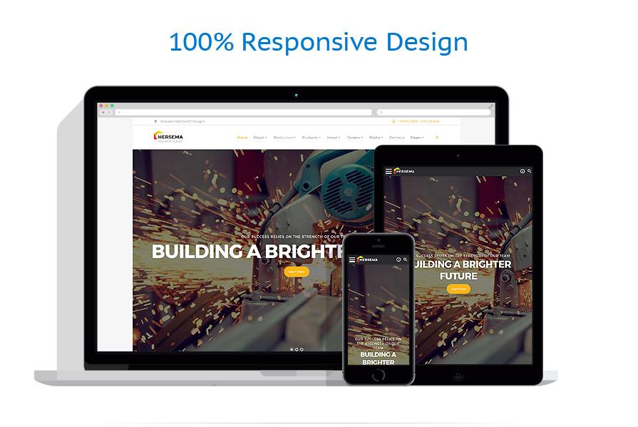 Modèles HTML5 Industriel #62301