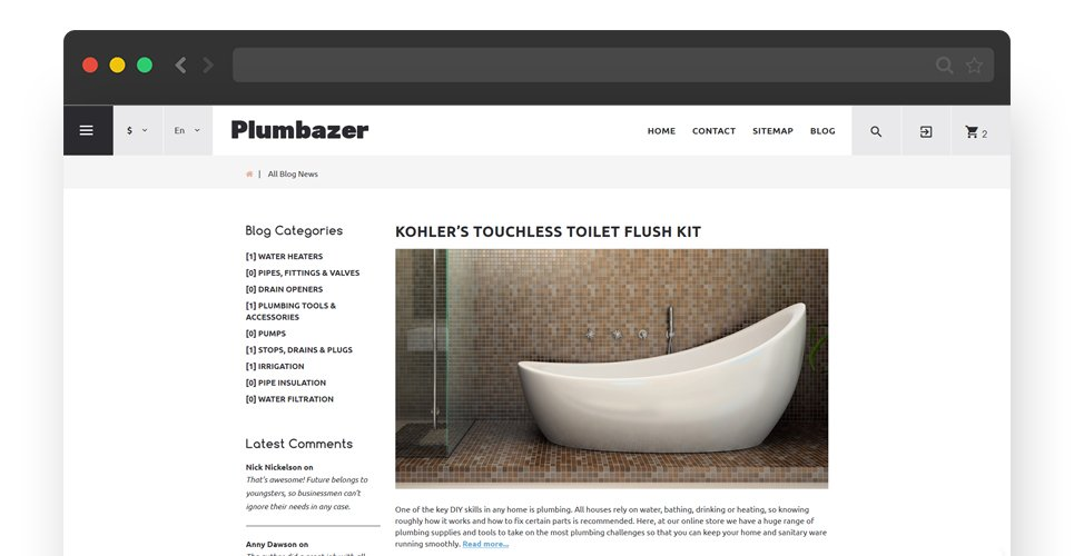 Website Design Template 62302 - plumber tips hint standard offer experience special expert
