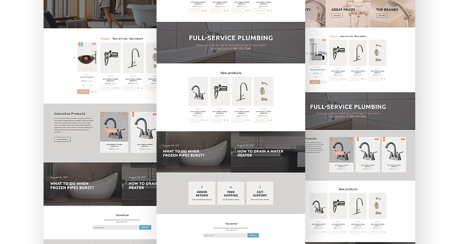 Website Design Template 62302 - repair spanner tools sewer tap faucet sink employment staff master plumber tips hint standard offer experience special expert