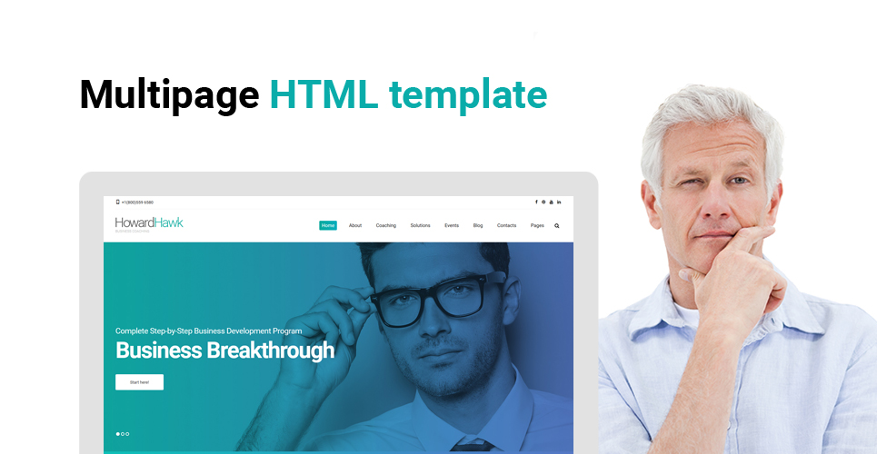 HowardHawk - Business Coaching Multipage Website Template