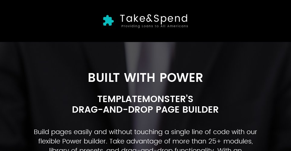 Take & Spend - Loans and Mortgages Business WordPress Theme