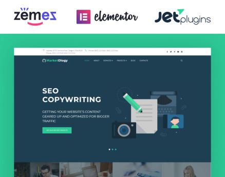 MarketOlogy - SEO and Marketing Agency Responsive WordPress Theme