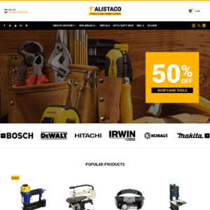 Screenshot of Alistaco Tools Store