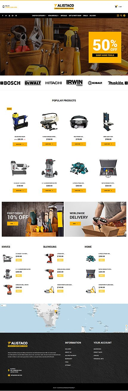 Custom Website Design Template #62363 -  alistaco tools store online shop purchase