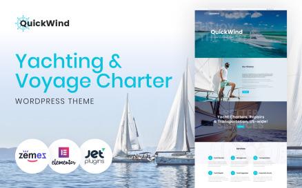 Yachting & Voyage Charter WordPress Theme - QuickWind