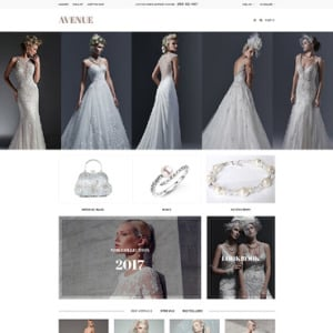 Screenshot of Avenue Wedding Store