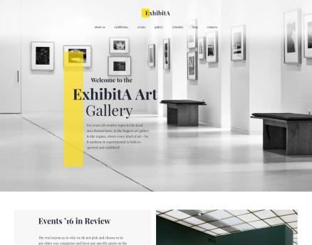 ExhibitA - Art Gallery Responsive WordPress Theme