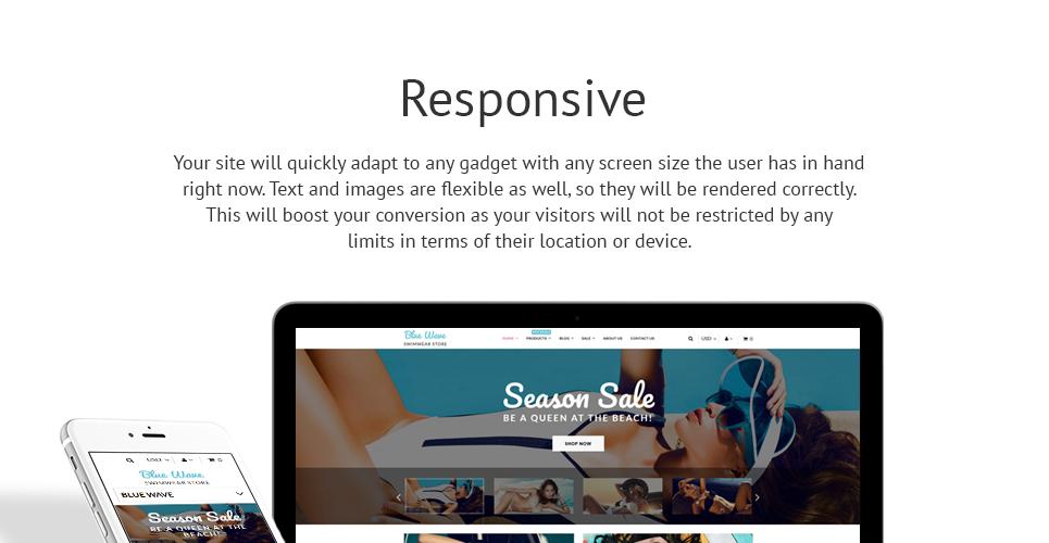Blue Wave  Responsive Shopify  Theme