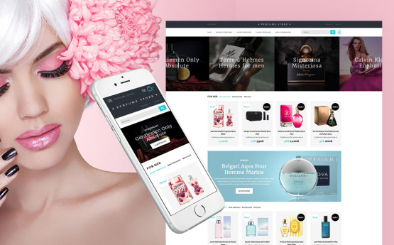 Perfume Online Shop Cosmetic main view