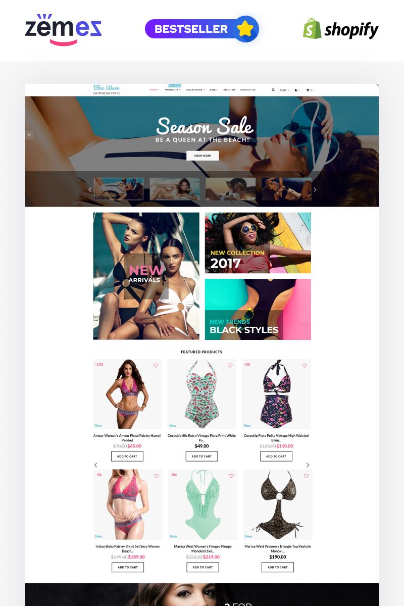 Адаптивний Shopify шаблон на тему купальники №62380