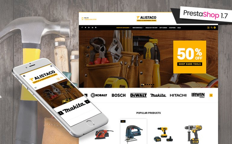 Alistaco - Tools & Equipment Store PrestaShop Theme New Screenshots BIG
