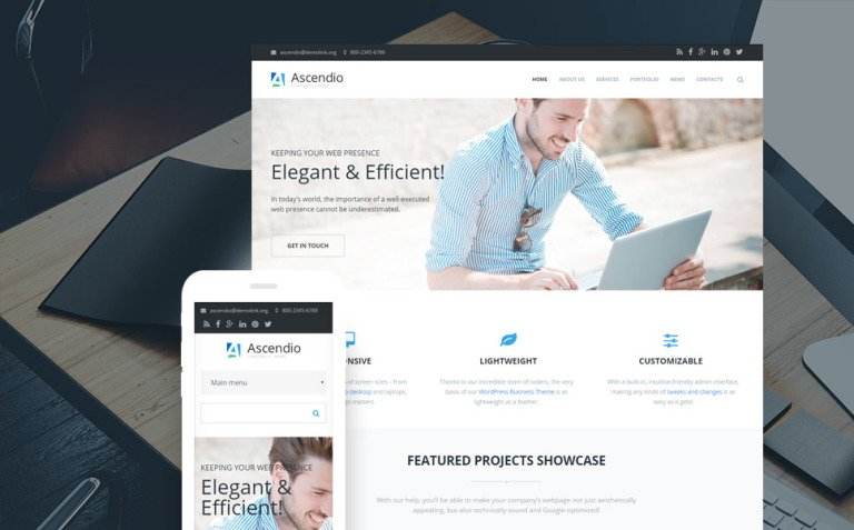 Ascendio - Business & Corporate Drupal Template New Screenshots BIG
