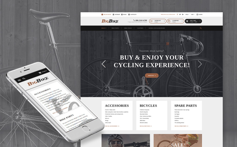 BigBike - Bike Shop Responsive PrestaShop Theme New Screenshots BIG