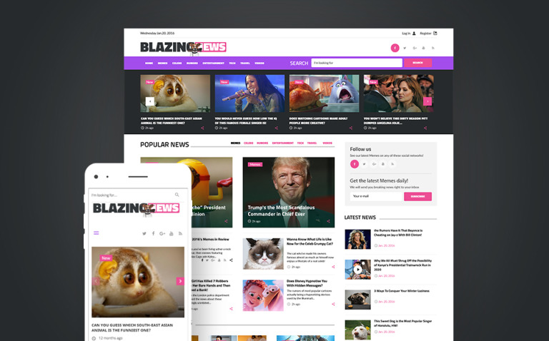 BlazingNews - News Magazine Responsive WordPress Theme New Screenshots BIG