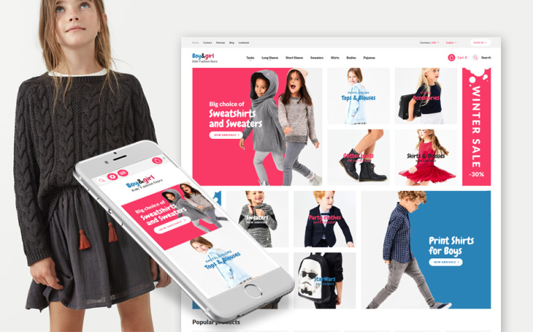 Boy&Girl - Kids Fashion Responsive PrestaShop Theme New Screenshots BIG