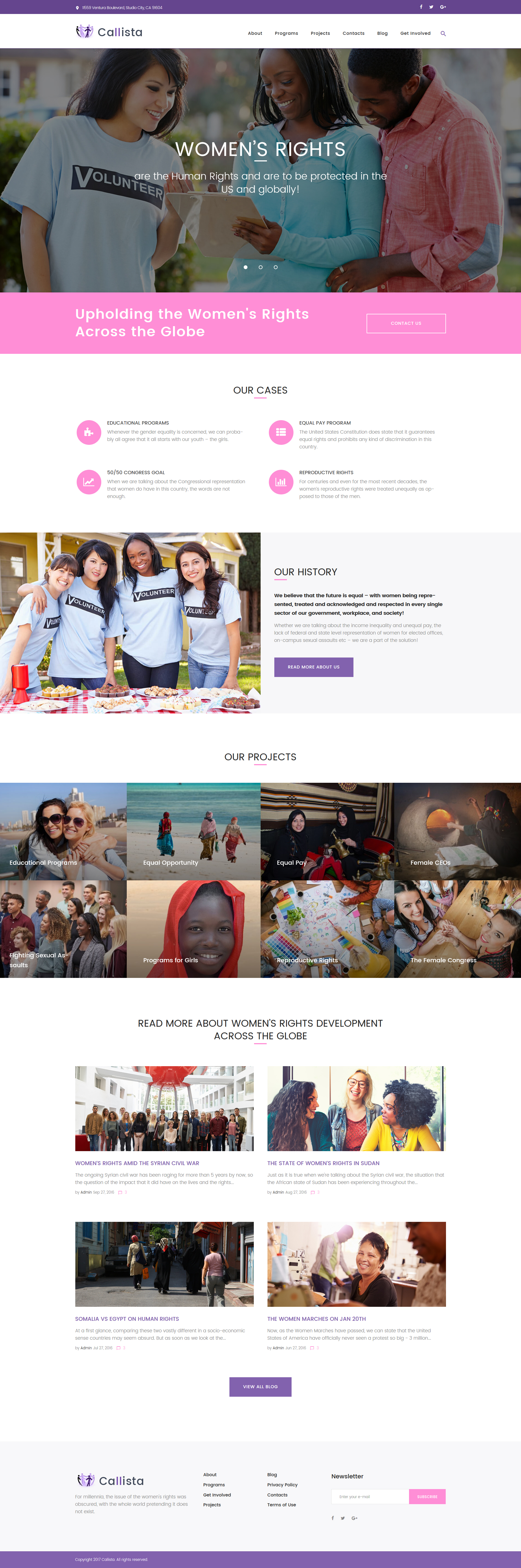 Callista - Charity & Fundraising Tema WordPress №62359