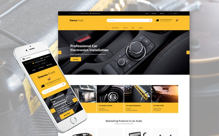 Car Audio Responsive VirtueMart Template New Screenshots BIG
