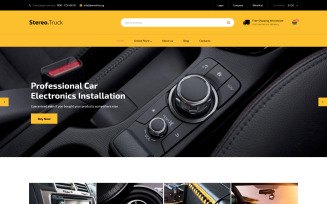 Car Audio VirtueMart Template