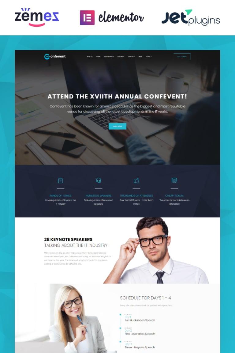 Confevent - Event Landing Page WordPress Theme New Screenshots BIG