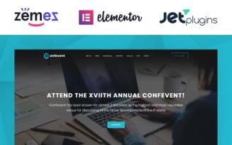 Confevent - Event Landing Page WordPress Theme