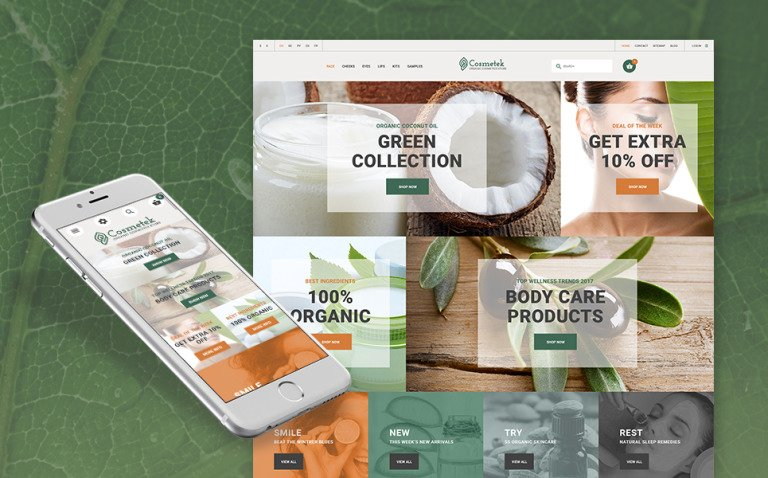 Cosmetek - Organic Cosmetics Store PrestaShop Theme New Screenshots BIG