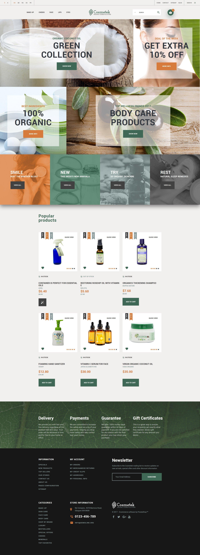 Cosmetek - Organic Cosmetics Store PrestaShop Theme
