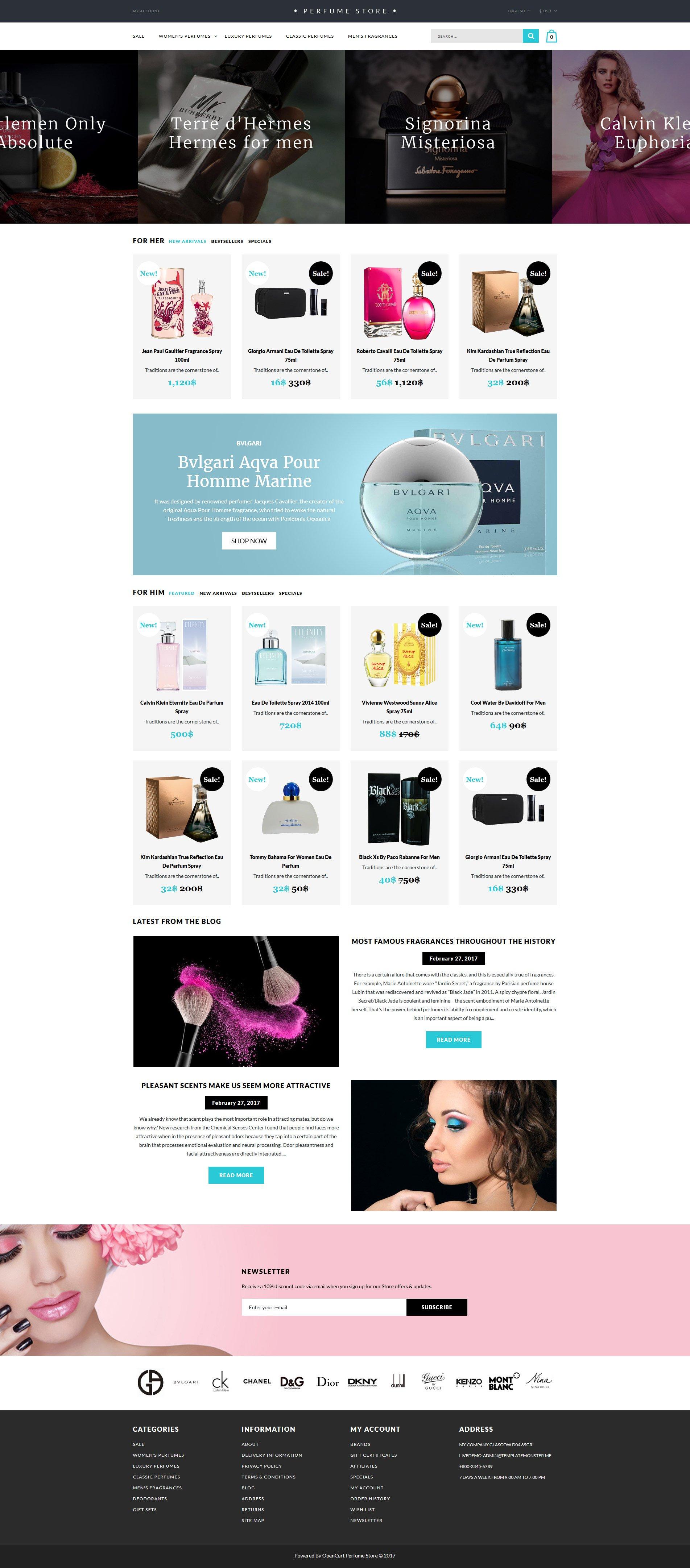Cosmetics Store Templates | TemplateMonster