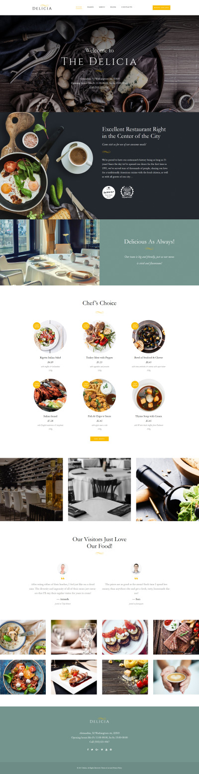 Cafe and Restaurant Responsive WordPress Thema