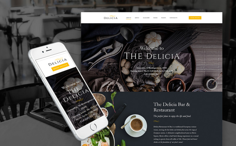 Delicia - Restaurant Responsive WordPress Theme New Screenshots BIG