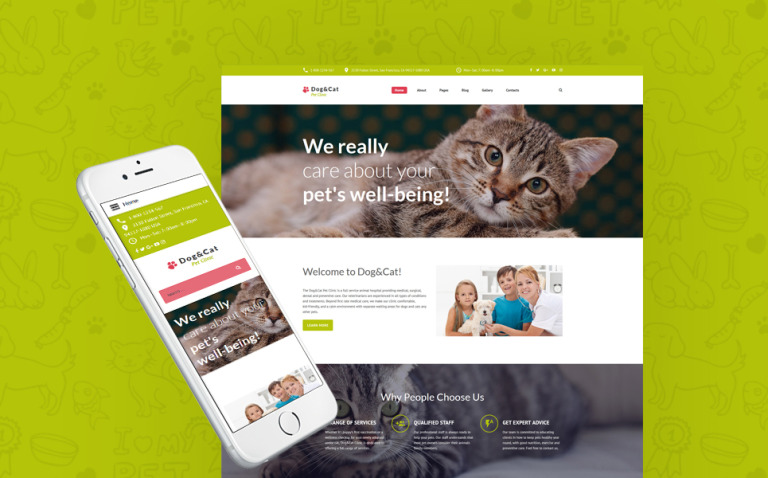Dog & Cat - Pet Clinic Responsive Joomla Template New Screenshots BIG