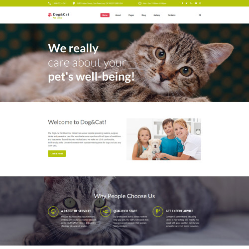 Dog & Cat  - Joomla! Template based on Bootstrap