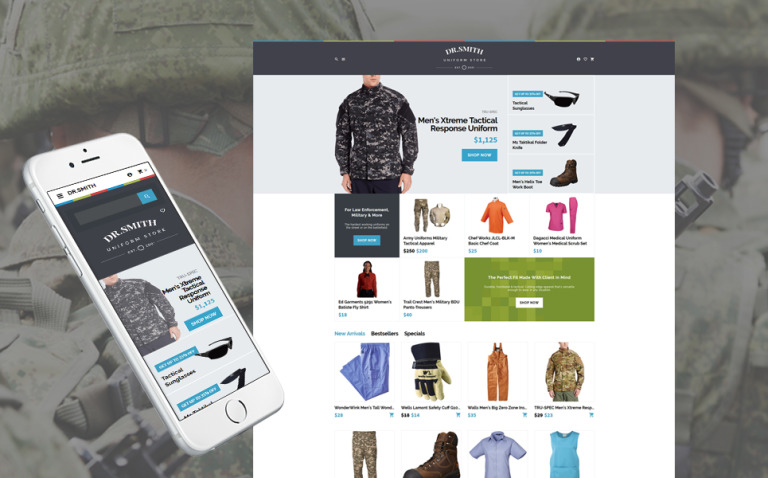 Dr. Smith - Uniform Store OpenCart Template New Screenshots BIG