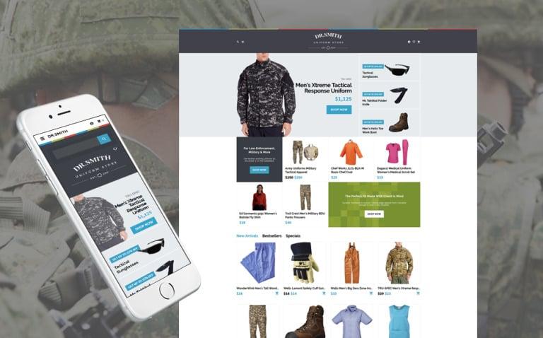 Dr. Smith - Uniform Store OpenCart Template New Screenshots BIG
