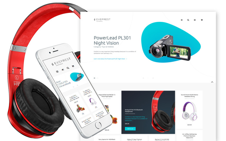 Eveprest - Electronics PrestaShop Theme New Screenshots BIG