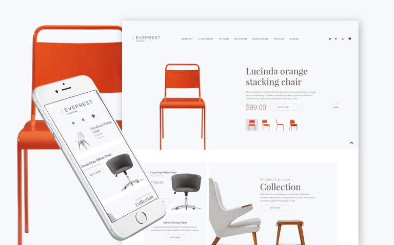 Eveprest - Furniture Store PrestaShop Theme New Screenshots BIG