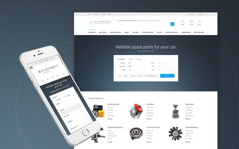 Eveprest - Spare Parts PrestaShop Theme New Screenshots BIG