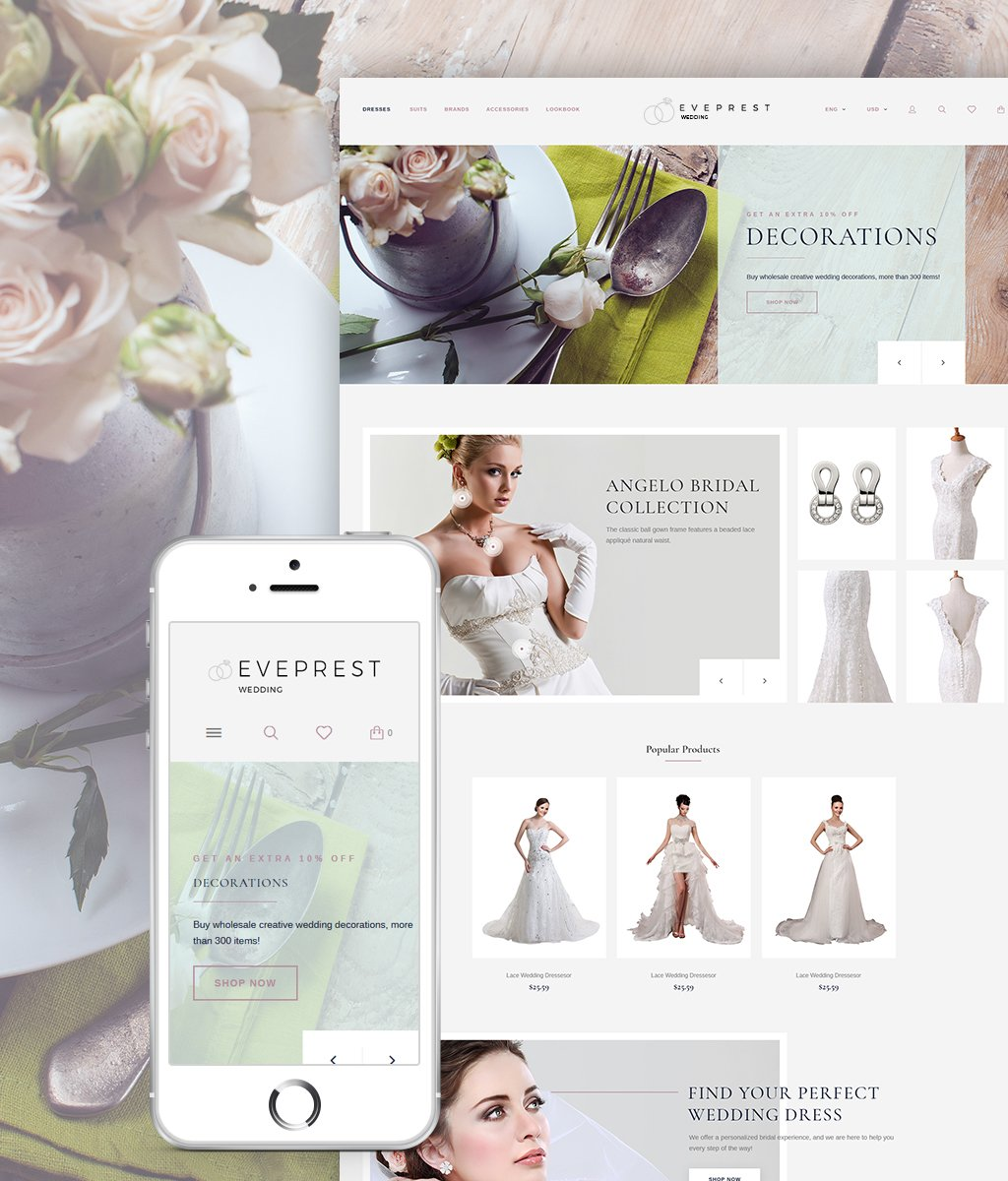 Eveprest - Wedding PrestaShop Theme