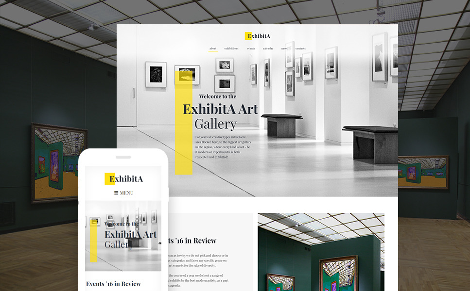 ExhibitA - Art Gallery Responsive WordPress Theme New Screenshots BIG