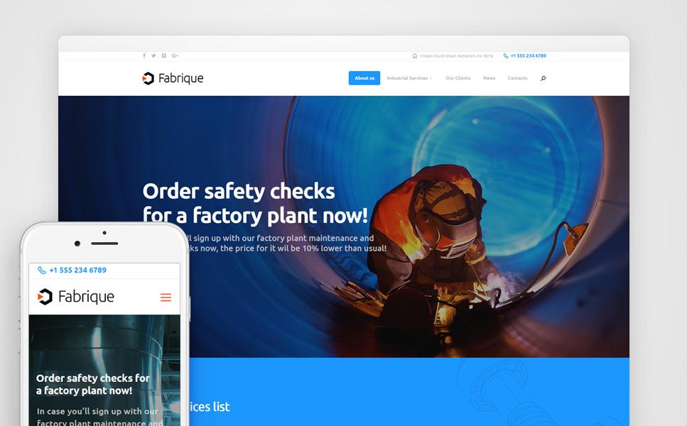 Fabrique - Industrial & Engineering WordPress Theme New Screenshots BIG